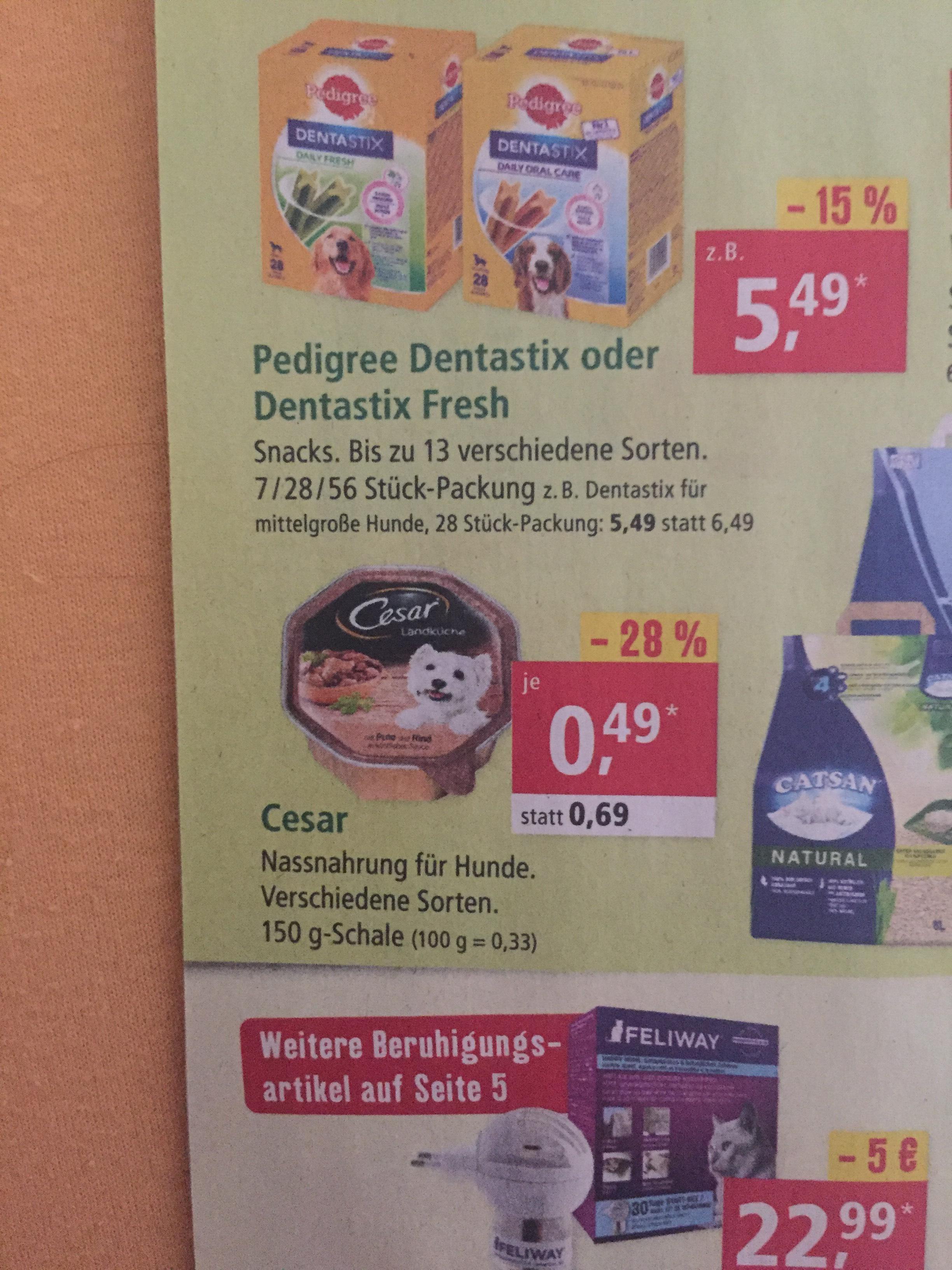 ~Fressnapf/Müller~ Cesar Hundefutter und Marktguru gibt 0,25€ Cashback
