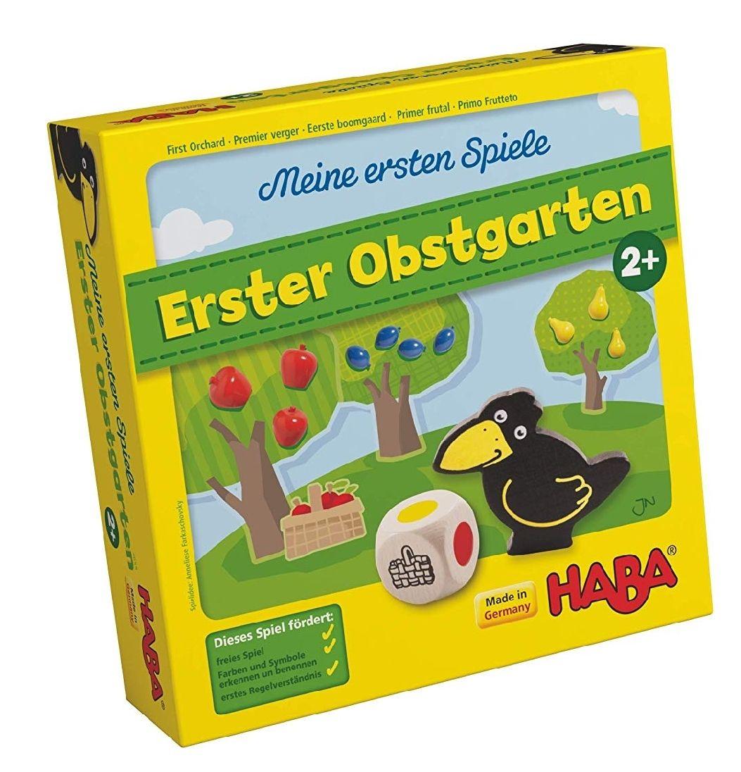[Amazon Prime] Haba 4655 - Meine ersten Spiele Erster Obstgarten, unterhaltsames Brettspiel rund um Farben und Formen ab 2 Jahren