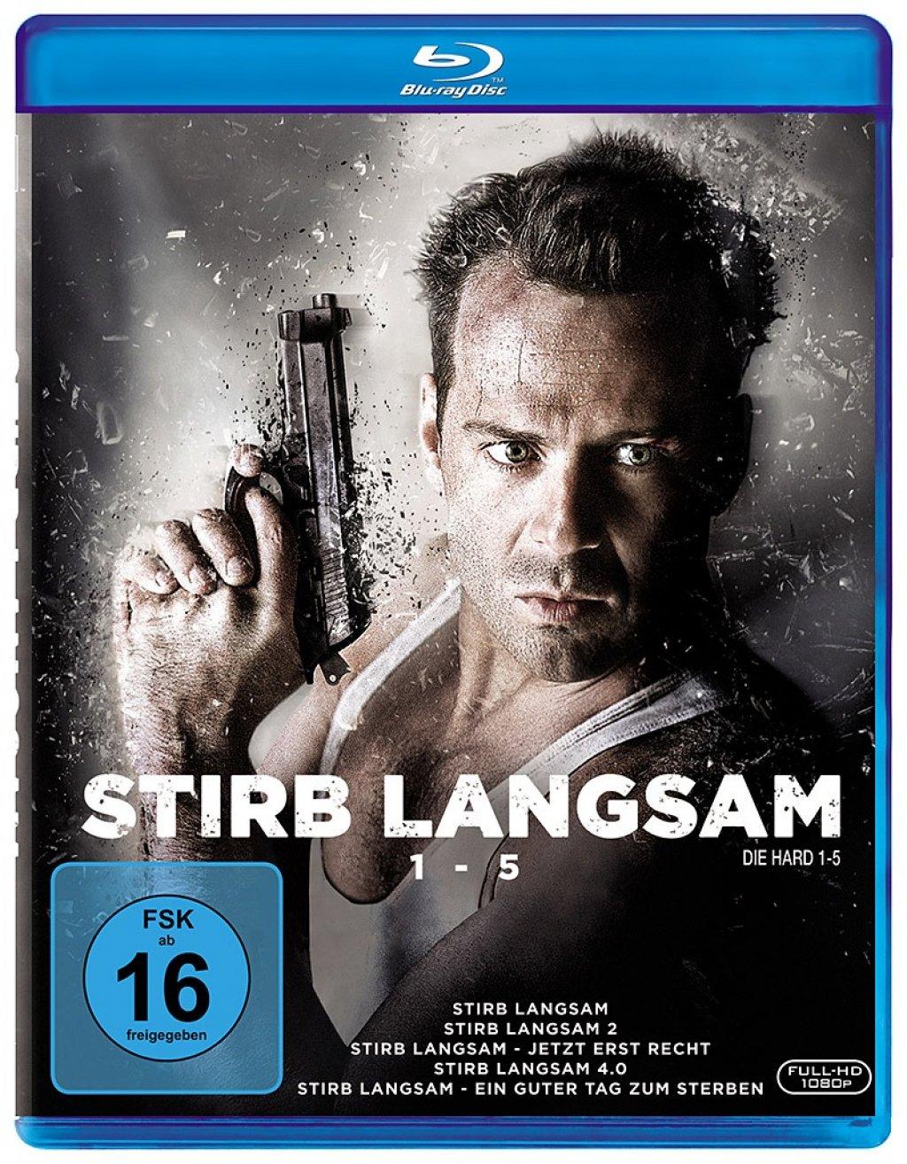 Stirb langsam 1-5 (5-Filme Set Blu-ray) für 16,99€ (Amazon Prime & Media Markt)