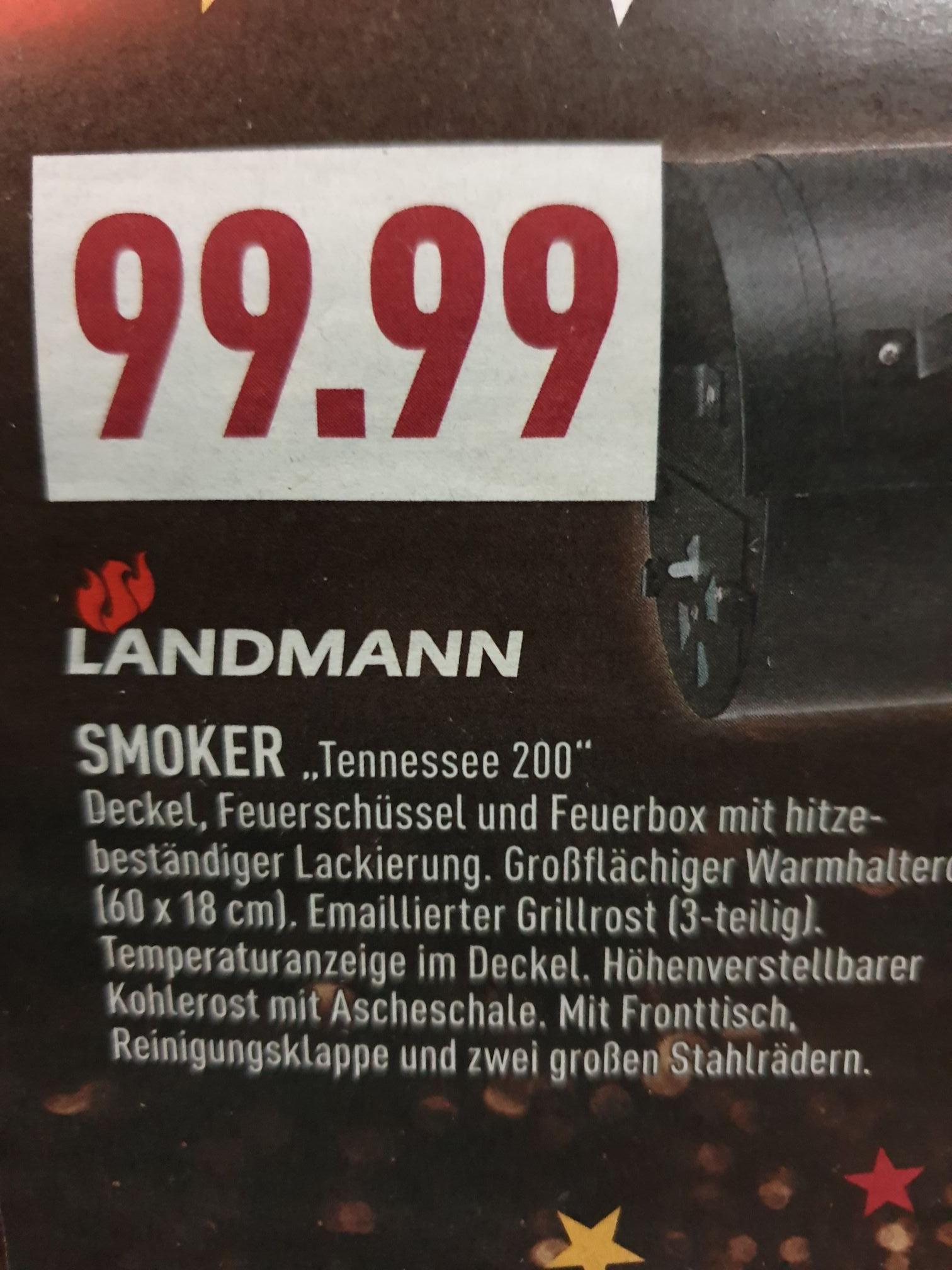 (Marktkauf Bielefeld) Landmann Smoker Tennessee 200 zum Spitzenpreis 99,99€