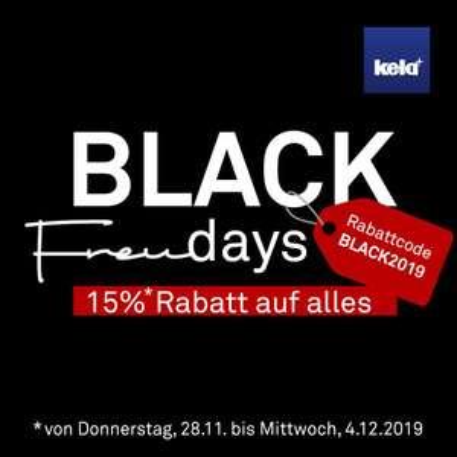 """Black Freudays"" bei Kela - 15% auf ALLES!!!"