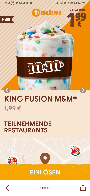 King Fusion versch. Sorten nur 1,99 bei BurgerKing