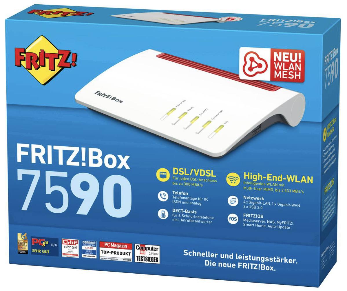 AVM Fritz!Box 7590 Wireless Router für 159,74€ inkl. Versandkosten