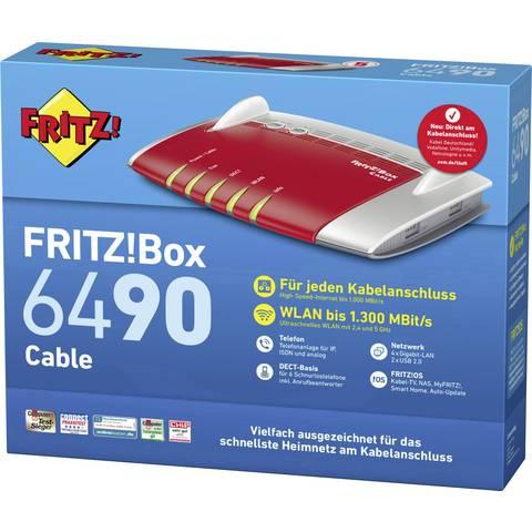 AVM FRITZ!Box 6490 Cable WLAN Router mit Modem für 134,74 € inkl. Versandkosten (Conrad)