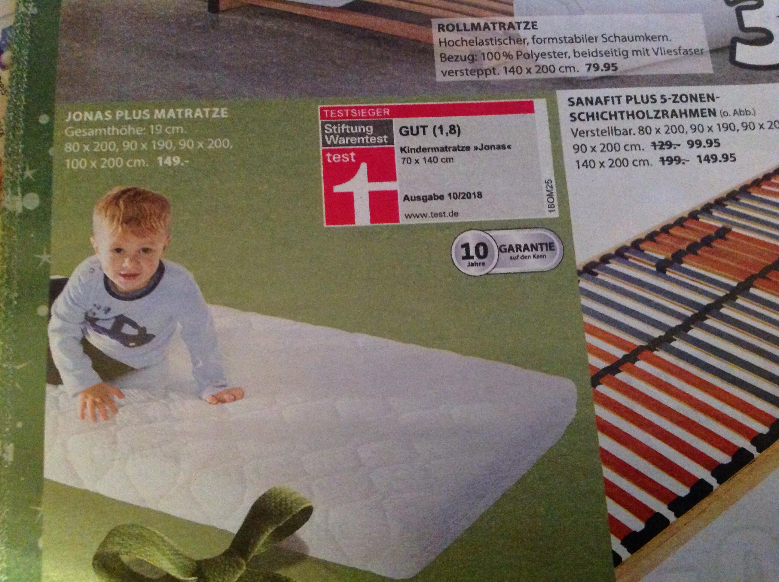 Jonas Plus Matratze 70x140cm Kindermatratze