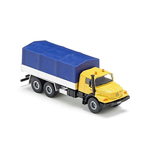 [AMAZON/MM] SIKU 3547, Mercedes-Benz LKW mit Pritsche und Plane, 1:50, Metall/Kunststoff, Gelb/Blau, Kippbare Pritsche