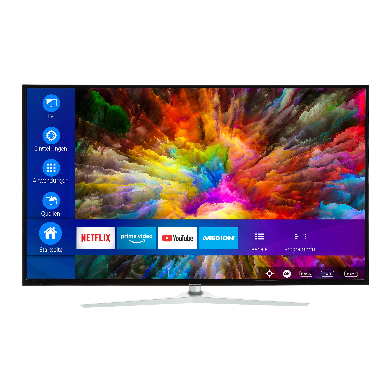 MEDION® LIFE® X16565 Smart-TV inkl. Soundbar E64126, 163,9 cm (65'') Ultra HD - Helligkeit 350 cd/m² -