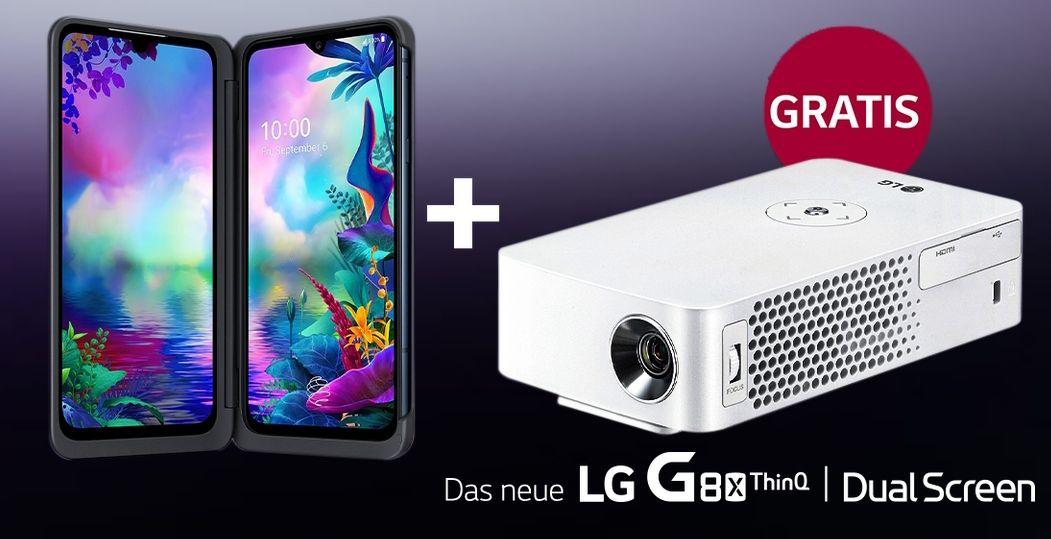 [Normalos GigaKombi] LG G8X und LG LED Mini-Beamer (idealo 319€) im Vodafone Red L (37GB LTE/5G, Video Pass etc.) mtl. 44,99€