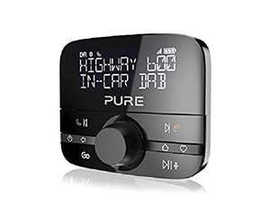 Pure Highway 600 - In-Car-Audioadapter (DAB/DAB+ Digitalradio mit BT, Siri und Google Assitant, Freisprechen, Spotify und 20 Senderspeicher)