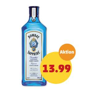 [PENNY] Bombay Sapphire London Dry Gin 40% Vol. (1 x 0,5l)