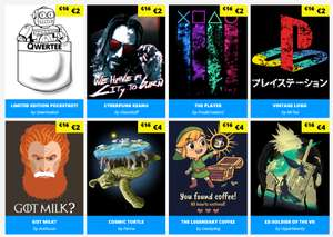 [Qwertee] T-Shirts ab 5€, bei Kauf von 6 Stück kostenloser Versand +Socken !