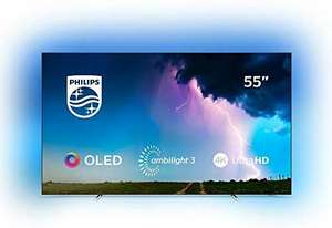 Philips Ambilight 55OLED754/12 139 cm (55 Zoll) OLED Smart TV (4K UHD, Dolby Vision, Dolby Atmos, HDR 10+, Saphi Smart TV)
