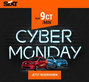 Sixt Share - Cyber Monday Deal - alle Autos 9cent/Minute (München/Hamburg/Berlin)