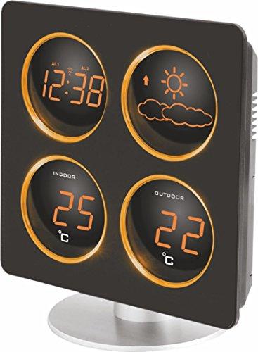 Technoline WS 6830 Wetterstation mit Tendenz, Temperaturanzeigen, LED-Anzeige, inklusive Außensender TX 96-TW004