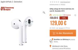 Apple AirPods 2 (neuestes Modell) ohne Wireless Chargeing