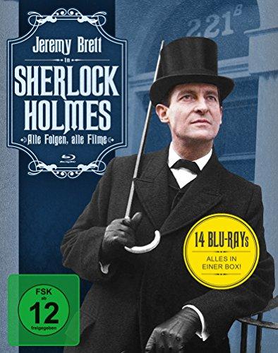 Sherlock Holmes - Alle Folgen, alle Filme Sammler-Edition (14 Blu-ray) (Amazon)