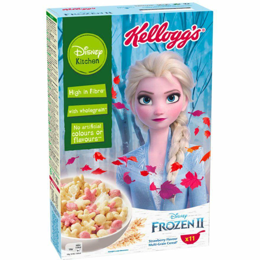 Kellogg's Frozen II 350g Cornflakes Eiskönigin II Elsa, Anna & Olaf auch bei Rewe erhältlich