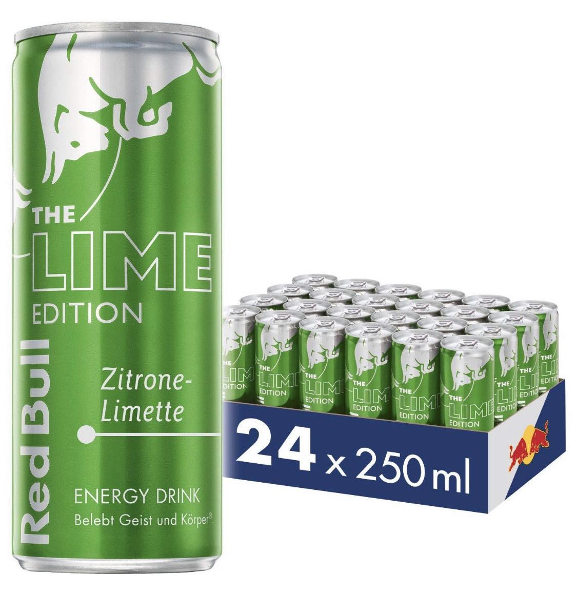 [Amazon] Red Bull Energy Drink Zitrone Limette 24 x 250 ml OHNE Pfand