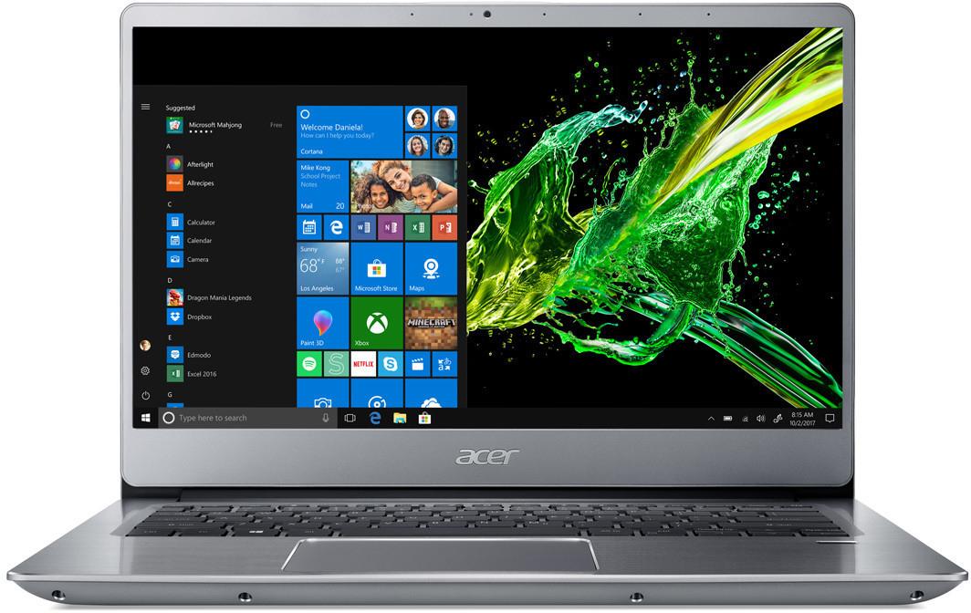 "Acer Swift 3 14"" FHD IPS Notebook (i5-8265U, 8GB DDR4, 512GB SSD, Win10, Alu-Unibody, Fingerprint, 1.60kg, Tastaturbel.) SF314-56-53MU"