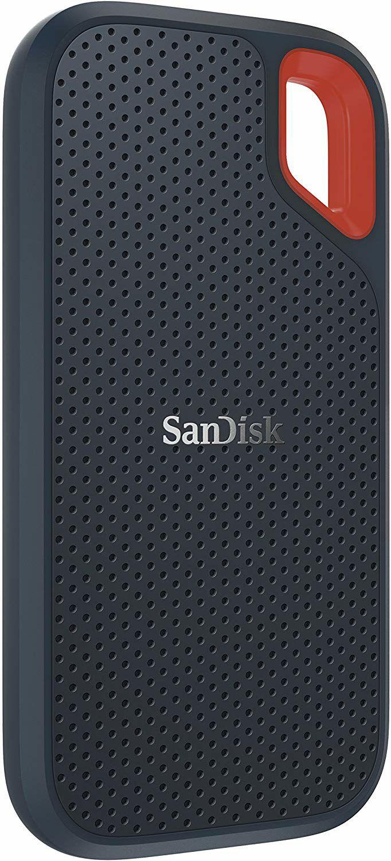SanDisk Extreme Portable SSD 2TB (Externe SSD 2.5 Zoll, bis zu 550 MB/s Lesegeschwindigkeit, wasserdicht und staubdicht)