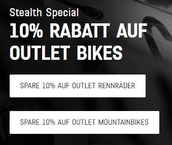 """Canyon 10% und kostenloser Versand auf Outlet Bikes """"Stealth Special"""""""