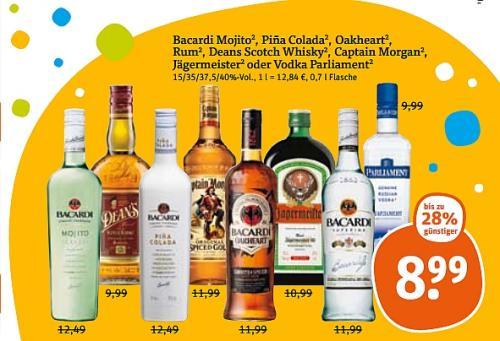 [Offline I tegut...] Jede Menge Alkoholisches für Silvester im Angebot (z.B Jack Daniels, Jägermeister, Söhnlein, Bacardi, Köstritzer uvm...)