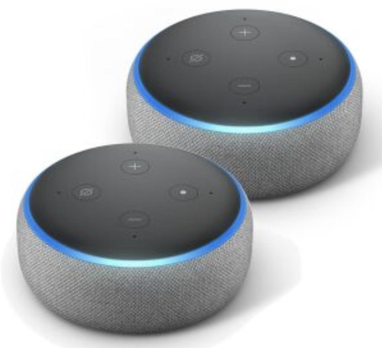 2 x Echo Dot 3 Anthrazit für 39,99€ inkl. Versandkosten mit Paydirekt