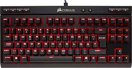 Corsair K63 Mechanische Gaming Tastatur (Cherry MX red: Leichtgängig und Schnell, Rot LED Beleuchtung, Kompakt, Qwertz) schwarz [Amazon]