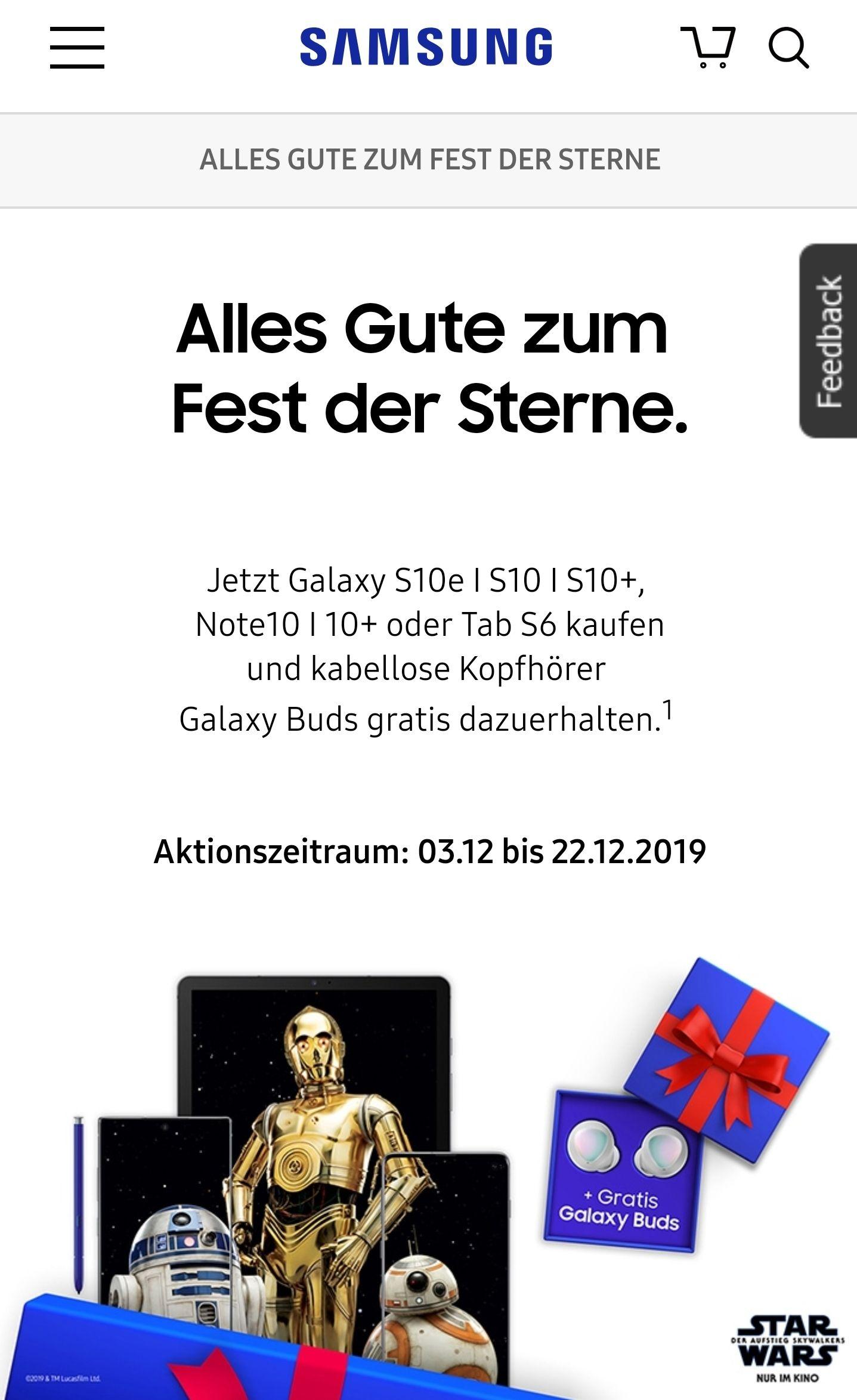 Galaxy Buds zu Samsung S10