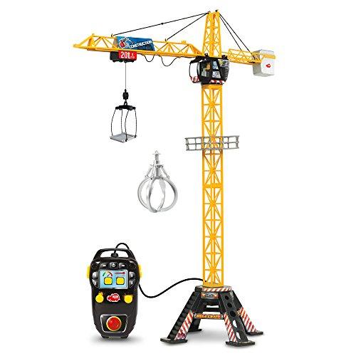 Dickie Toys Mega Crane, kabelgesteuerter Kran, 120 cm hoch
