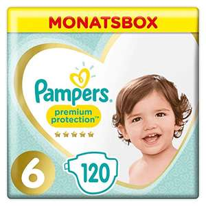 Pampers Premium Protection Windeln, Gr.6, 13-18kg, Monatsbox, 1er Pack (1 x 120 Stück) [Amazon Spar-Abo]