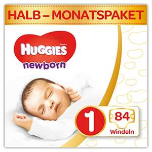 Huggies Newborn Baby Windeln für Neugeborene, Größe 1 (1 x 84 Stück) [Amazon Spar-Abo]