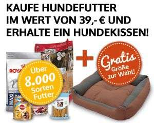 Zooprinz.de - Hundefutter im Wert von 39 € kaufen + Hundekissen (Grösse selbst wählbar) erhalten