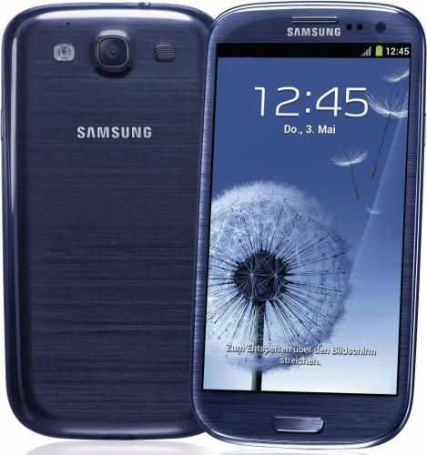 Samsung Galaxy SIII Blau/Weiß