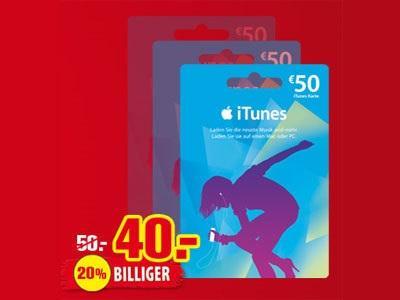 Beim Rewe  50€ I Tunes für 40€
