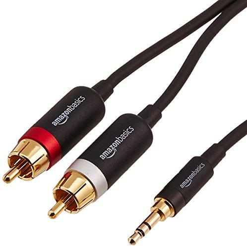 AmazonBasics PBH-19821 Cinch-Audiokabel, 3,5-mm-Klinkenstecker auf 2 x Cinch-Stecker, 1,22 m €6.80