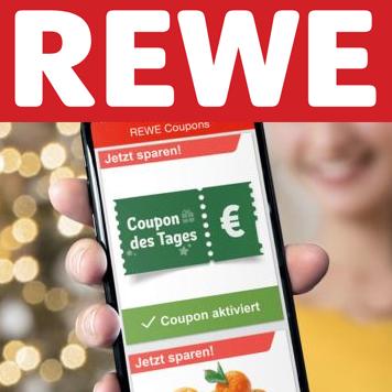 """[Rewe] Bis zu 1,10€ Rabatt-Coupons ab 10€ Einkauf über die App täglich als """"Coupon des Tages"""""""