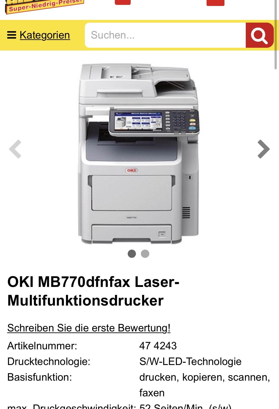 OKI MB770dfnfax Laser