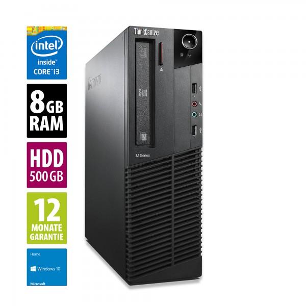 Lenovo Thinkcentre M83 SFF (i3-4130, 8GB RAM, 500GB HDD, DisplayPort, VGA, 4x USB 3.0 & 4x USB 2.0) [Gebrauchtware Grade A]