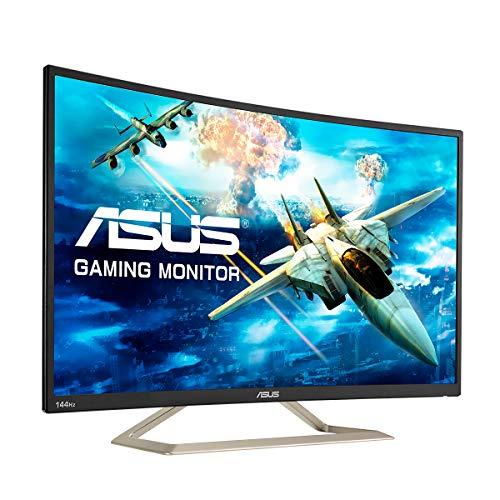 ASUS VA326HR 80,01 cm (31,5 Zoll) Monitor (VGA, HDMI, Full HD, GamePlus-Technologie, 144Hz, 1.800R Krümmung) schwarz