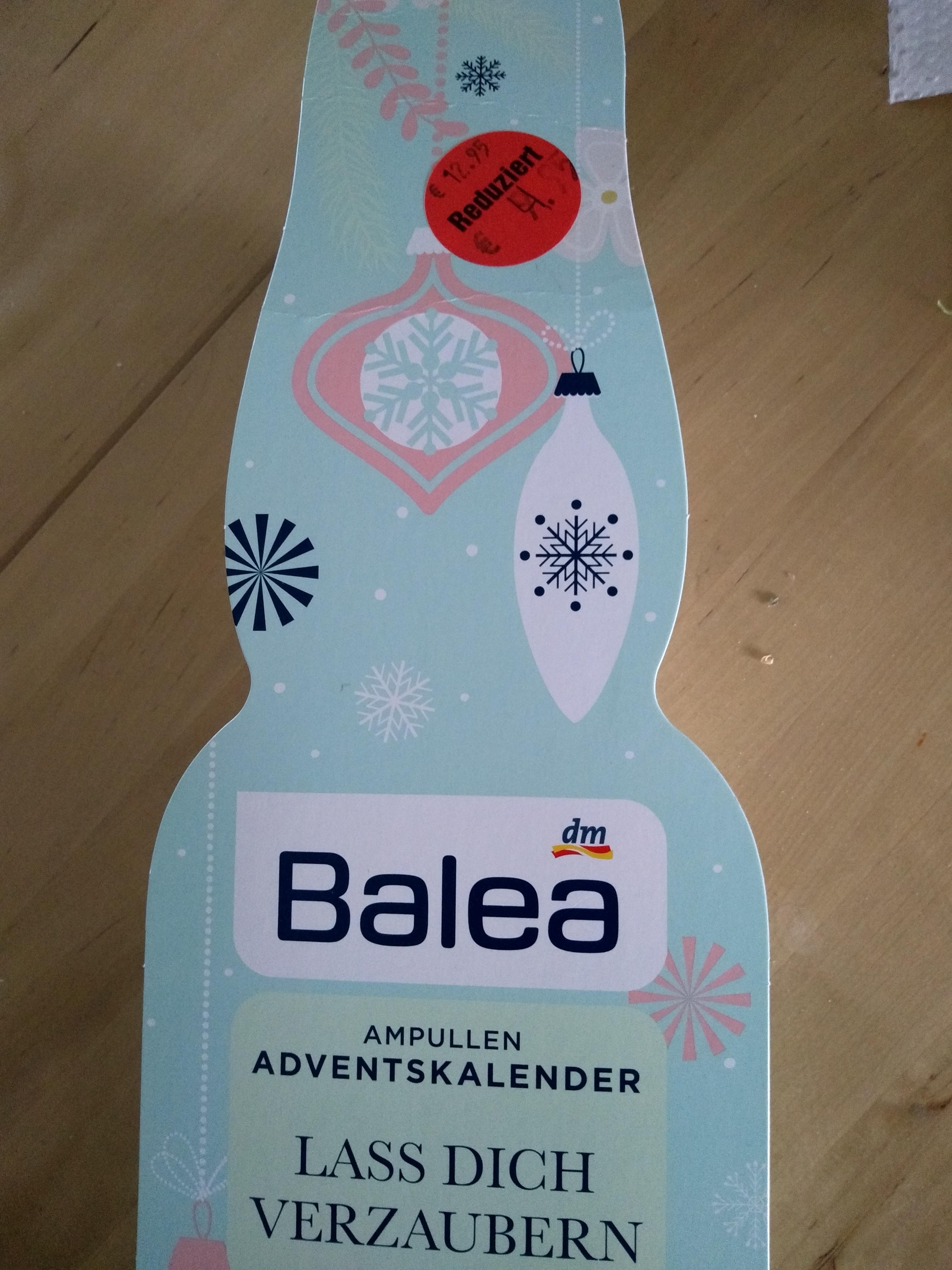 (Lokal) DM Schwerte Balea Ampullen Adventskalender 50 % reduziert