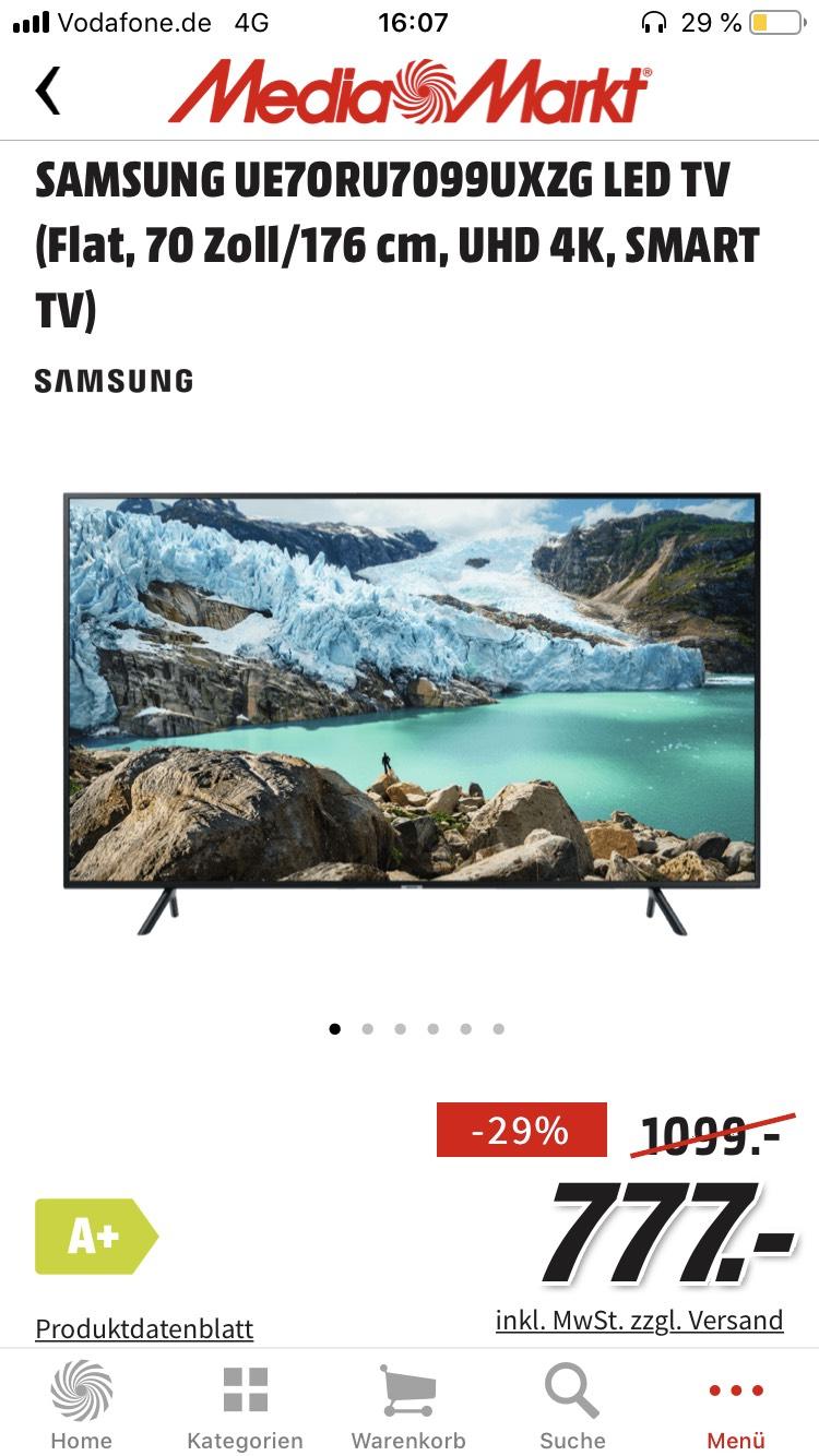 SAMSUNG UE70RU7099UXZG LED TV 70 Zoll (Marktabholung)