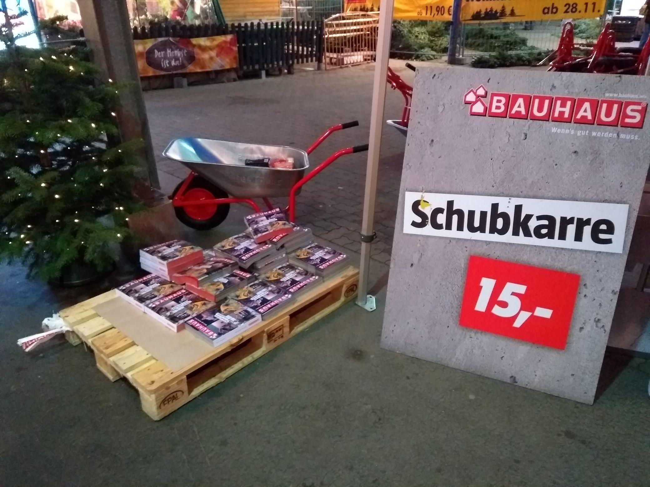 Schubkarre Bauhaus Lokal Dresden Kaufpark
