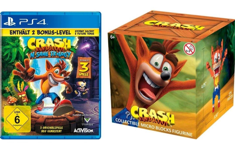 Otto: Crash Bandicoot N-Sane Trilogy mit 2 zusätzlichen Level PS4 + Nanoblock für 26,00€
