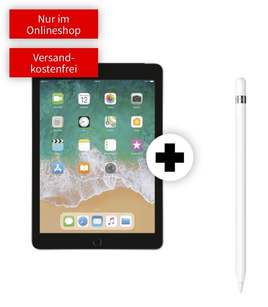 Apple iPad 2019 32GB Cellular Spacegrau mit Pencil im Debitel Telekom (15GB LTE 150Mbit, Datentarif) mtl. 19,99€ und einmalig 49€
