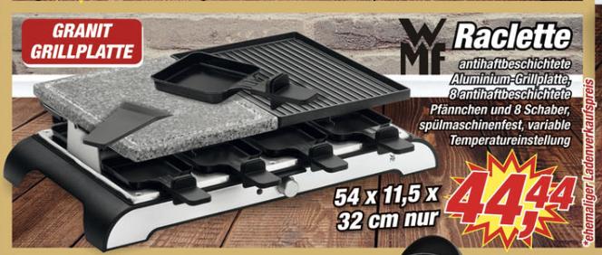 WMF Raclette Grill mit Granitplatte für 8 Personen [Posten Börse] [Niedersachsen & Münsterland & 2x Saarland]