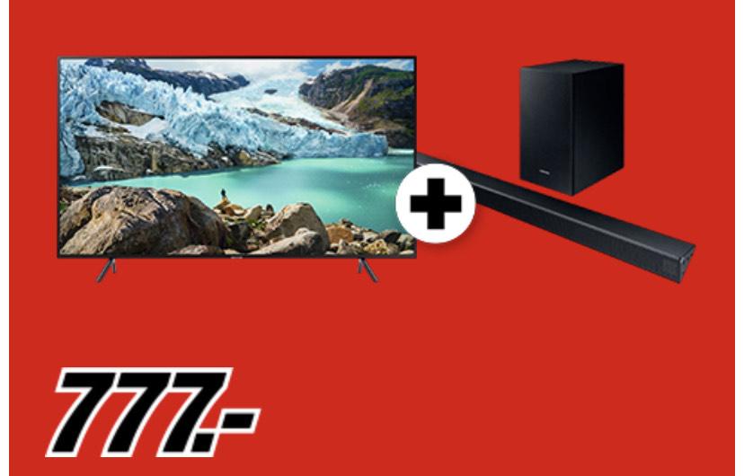 "Samsung 7179 65"" LED TV & Samsung HW-R 530 für 759€"