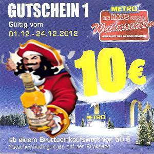 [Metro] 6x Captain Morgan mit 10€ Metro Gutschein für 47,06€ --> 7,85€ pro Flasche