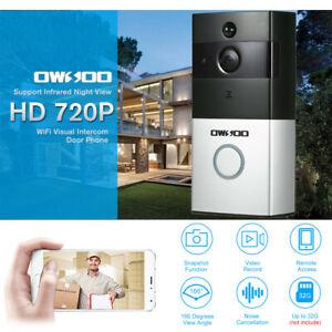 OWSOO 720 P WiFi Visuelle Gegensprechanlage Türsprech Infrarot Nachtsicht V5V2