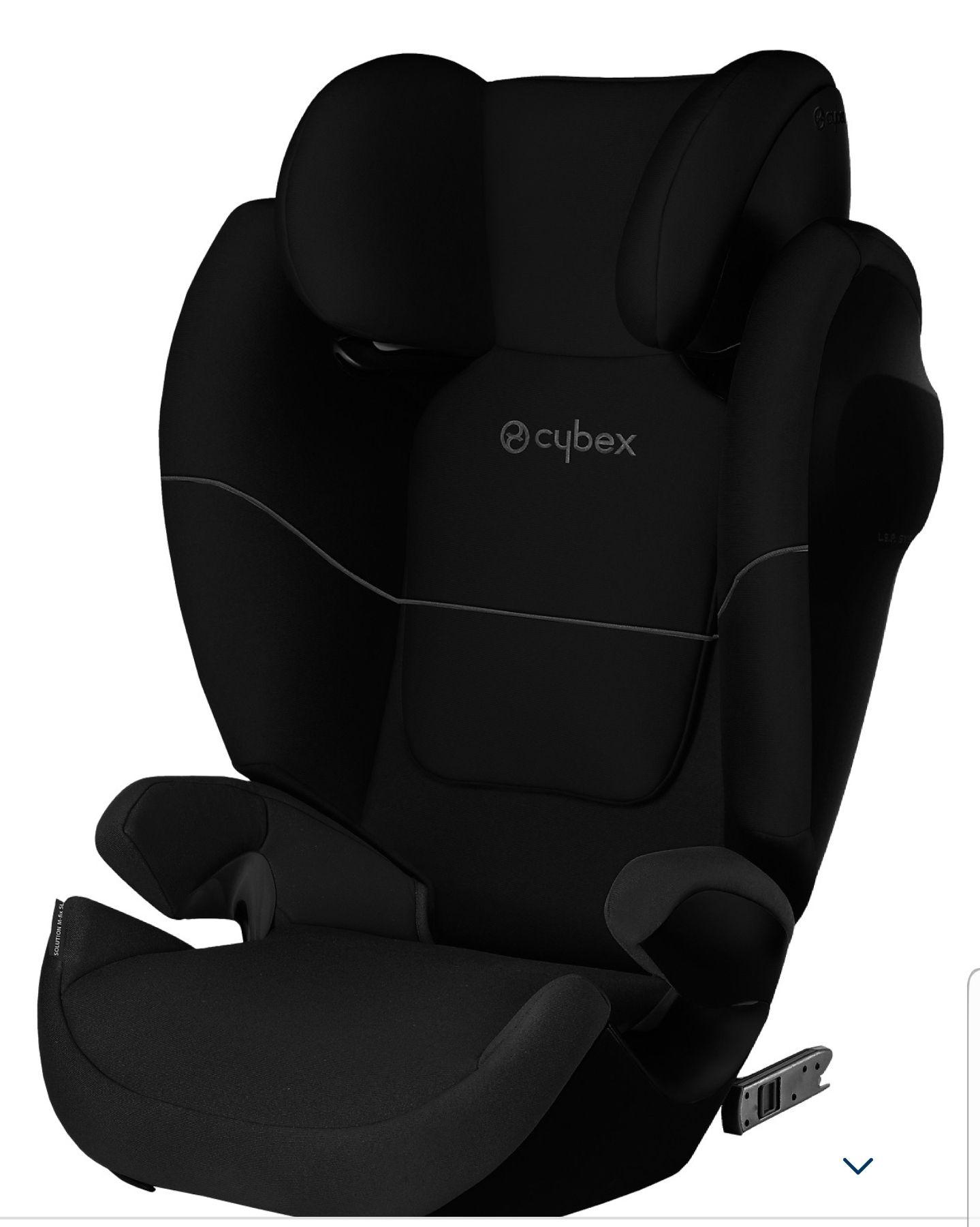 Cybex Auto-Kindersitz Solution M-Fix SL, Silver-Line, Pure Black-Black